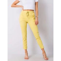 Dámské žluté trendy kalhoty