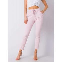 Dámské růžové trendy kalhoty