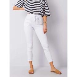 Dámské bílé trendy kalhoty