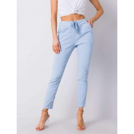 Dámské modré trendy kalhoty
