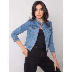 Dámská džínová bunda se zipem