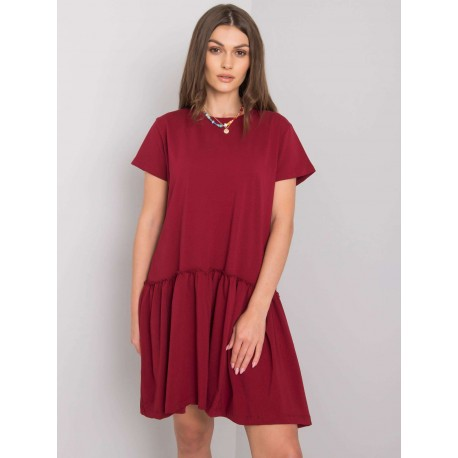 Dámské letní bavlněné šaty s volánkem