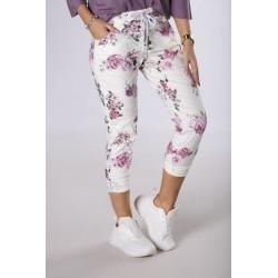 Dámské květované trendy kalhoty