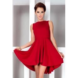 Dámské asymetrické šaty Lacosta - Exclusive bez rukávu červené