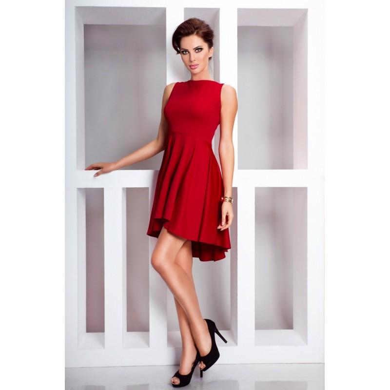 Dámské asymetrické šaty Lacosta - Exclusive bez rukávu červené ... c4edb017ed